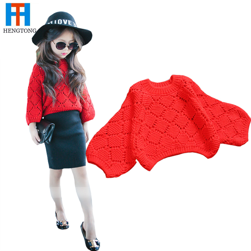 2015 Baby girl winter sweater red 2-6 years fashion Christmas children girls sweater computer knitted sweater for girl