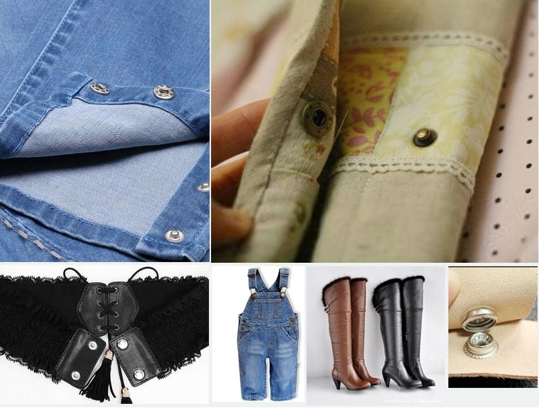 Decorative clothing snaps jeans press push metal button