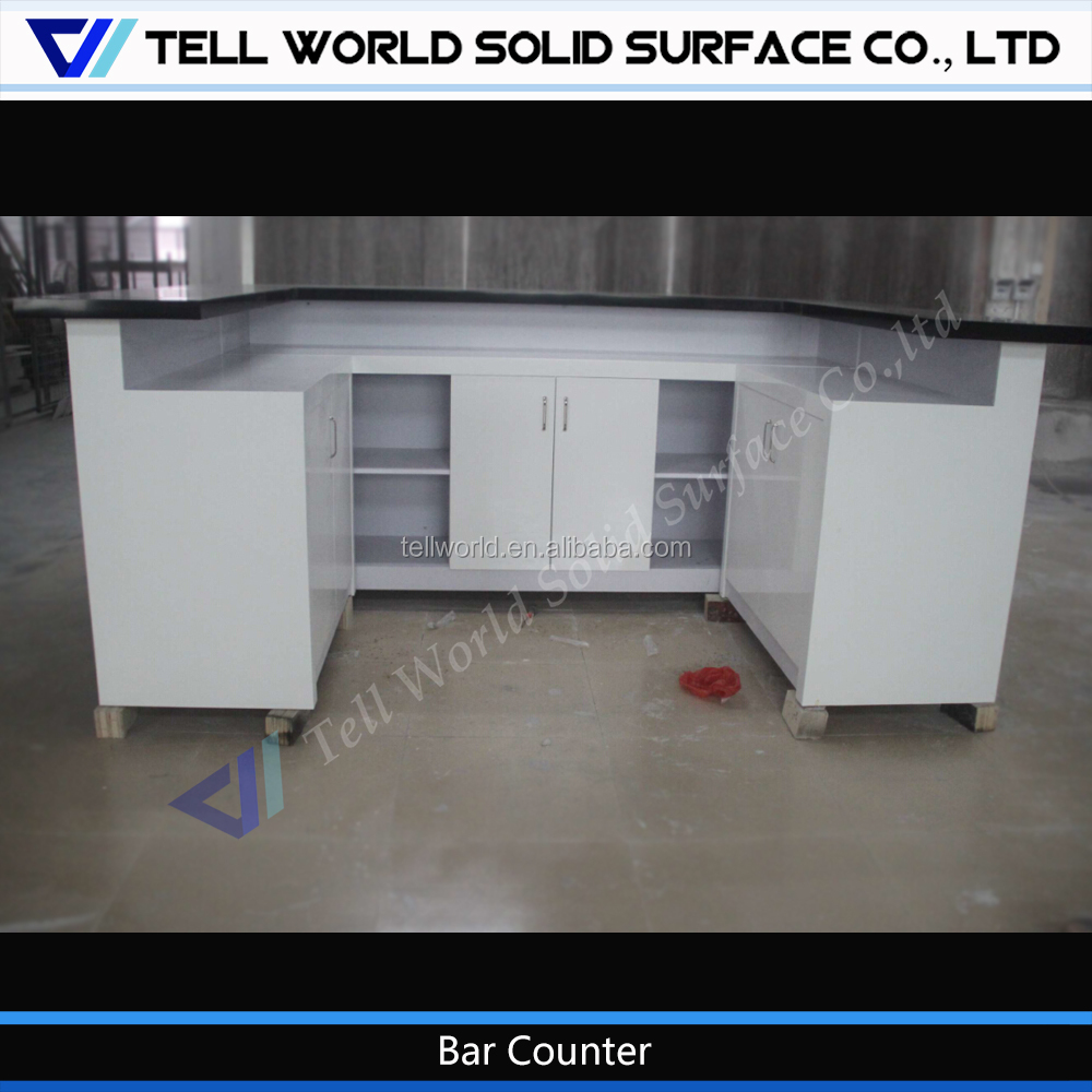 Tellworld customized made antique furniture bar counter with high glowing led light
