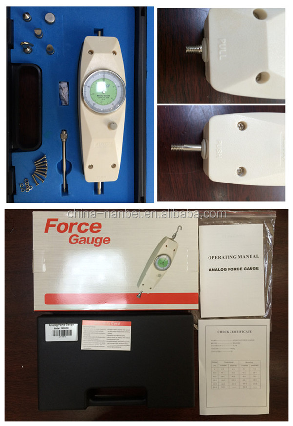 Max measuring 45lb Analog Force Gauge Meter