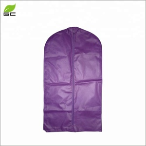 Custom Printed Logo Wally 40 Inch Foldable Non Woven Medium Suit Cover Garment Bag For Packing Clothes