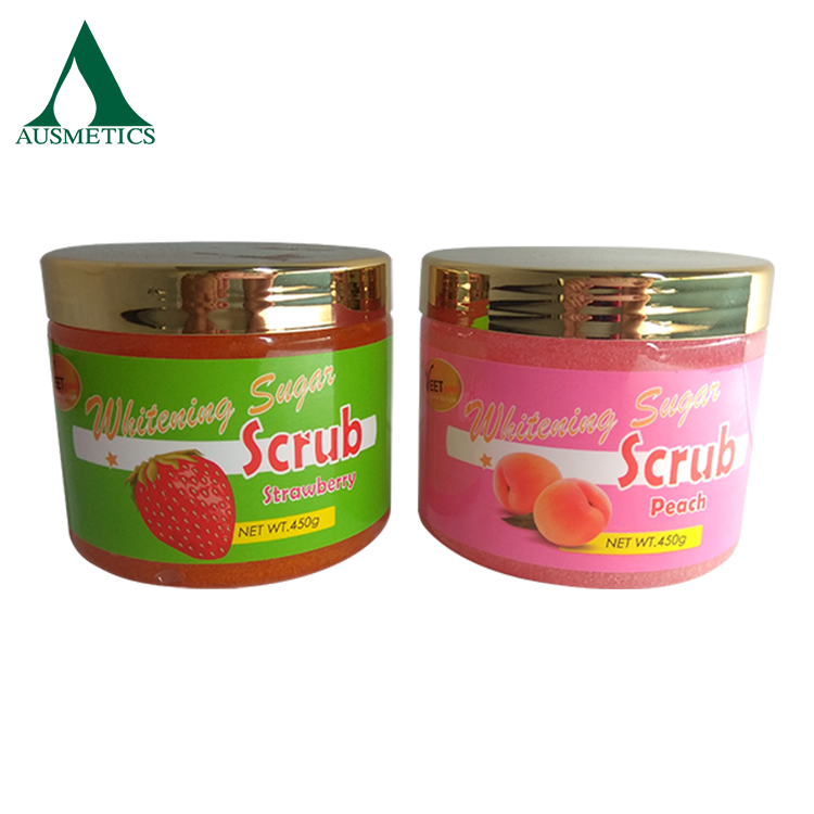 Factory directly sale body scrub fruit flavour sugar lip scrub private label