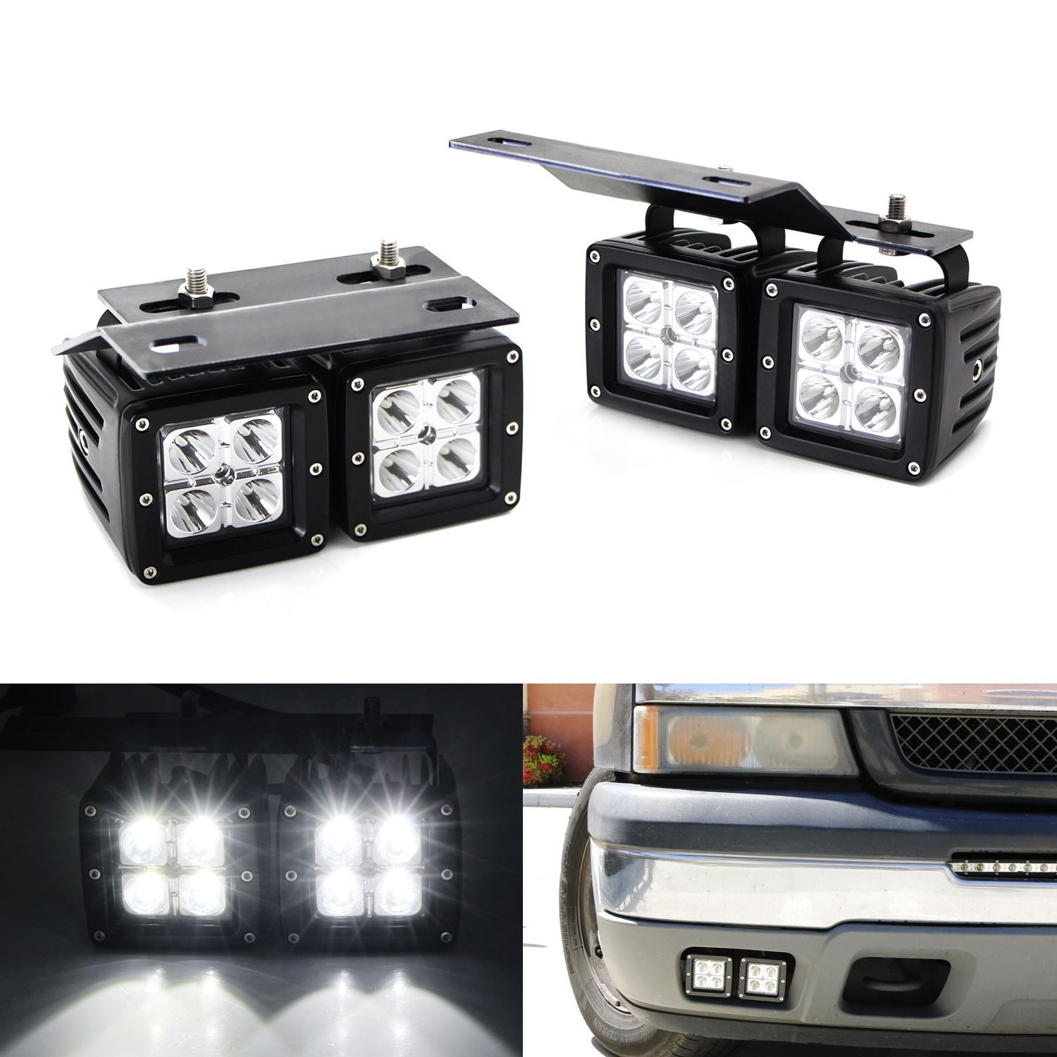 Buy Ijdmtoy Complete Set Fog Lights Foglamp Kit With H11 Bulbs Amp 2015 Chevy Silverado Light W Location Mounting Brackets Wiring Adapters For 2002 06 Chevrolet Avalanche 2003 1500 07 2500 3500
