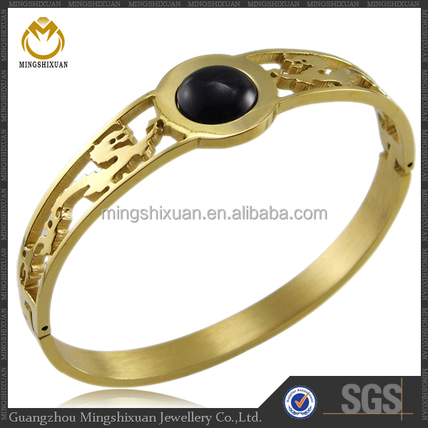 Best selling stainless steel bangle 14 karat gold jewelry wholesale
