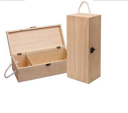 1 bouteille bo te vin en bois avec couvercle coulissant et corde poign e caisses d 39 emballage. Black Bedroom Furniture Sets. Home Design Ideas