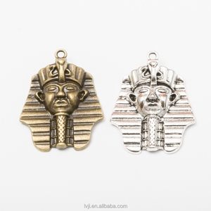 Hip Hop Egyptian Sphinx Pharaoh Piece Head Necklace Pendant 36.5*28.5mm