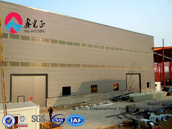 Prefab commercial warehouse hall light steel hall sports warehouse layout design