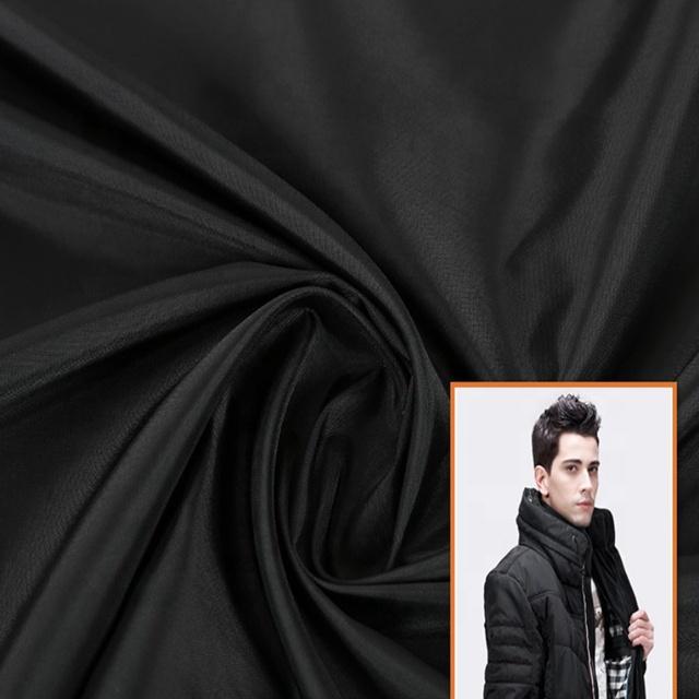 คุณภาพสูง 100% ไนลอน 190T Taffeta PVC เคลือบกันน้ำผ้าย้อมสีผ้า Taffeta ร่มเสื้อกันฝน