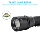 Camping 1000 Lumen Mini Pocket Torch Zoomable Type-C USB Rechargeable LED Flashlight Tactical For