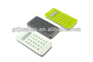 JH2040 pocket electronic 10 digit acrylic maze game caculator