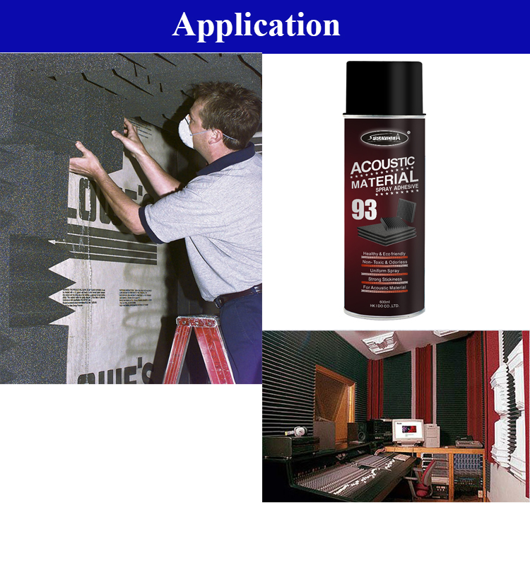 Sprayidea 93 Air conditioning facilities air compressor room noise absorption sound insulation foam installation spray adhesive