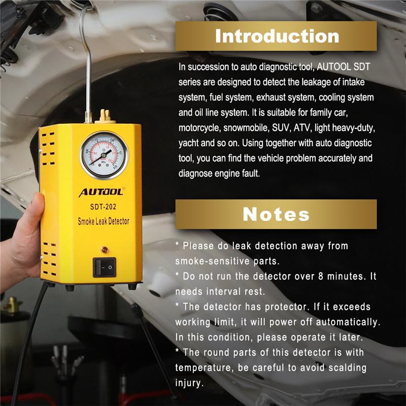 Autool SDT202 Универсальная автомобильная Evap/вакуумная дымовая диагностическая 13.jpg