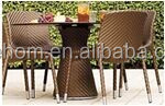 garden small rattan wicker coffee table with two chairs furniture