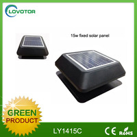 Reduce moisture solar power flat roof ventilator with non crossive aluminum fan blade