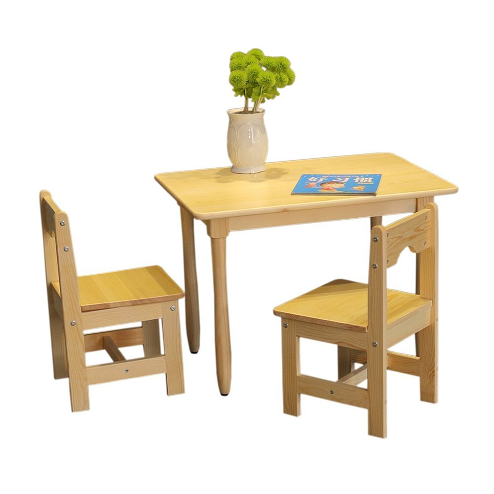 Get Quotations · RUICHENG Solid Wood Children Desk And Chair Suit Students  Writing Desk Child Desk Kindergarten Students Desks