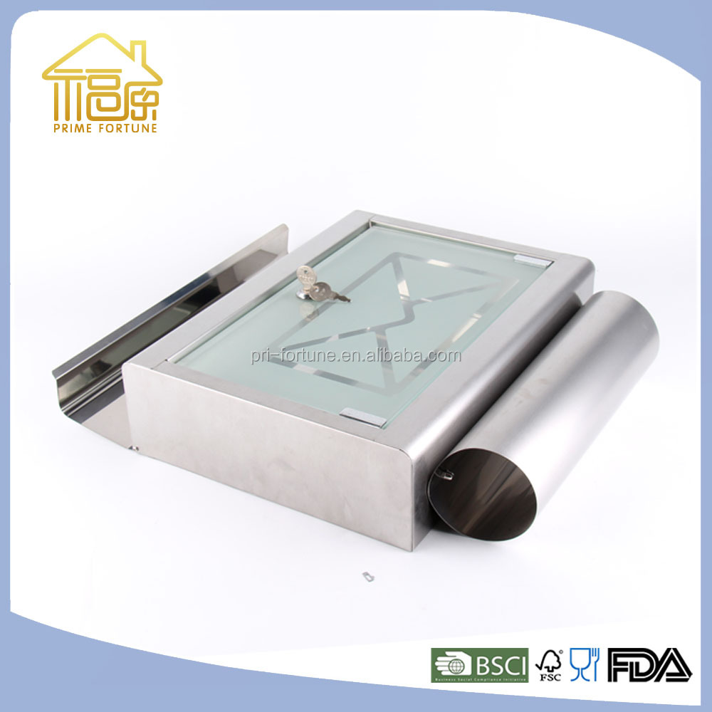 clear plastic cardboard cast iron mail box