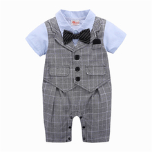 ZHG72 Peuter <span class=keywords><strong>Baby</strong></span> Rompertjes Lente <span class=keywords><strong>Baby</strong></span> <span class=keywords><strong>Kleding</strong></span> Sets Gentleman Roupas <span class=keywords><strong>Baby</strong></span> Jumpsuits <span class=keywords><strong>baby</strong></span> <span class=keywords><strong>kleding</strong></span> <span class=keywords><strong>zomer</strong></span>