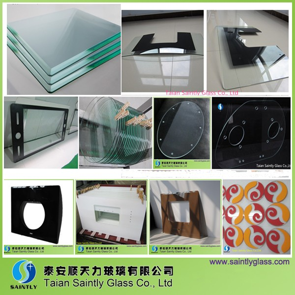 Customized decorative air conditioner front tempered glass for Decorative tempered glass panels