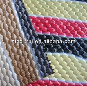 PU/PVC leather high light embossed fabric for handbag
