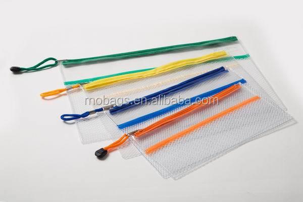 Clear Plastic Pvc Zipper Mesh Pencil Pouch Buy Clear