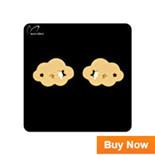 2015 זהב/כסף פירות תכשיטים נירוסטה מעודנים חמוד אננס עגילים לנשים