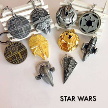 Star Wars 7 Spacecraft warship keychain toys 2016 New Force Awaken Millennium Falcon Imperial Star Destroyer