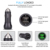 New Arrival QC3.0 Dual USB Metal Car Charger quick charger