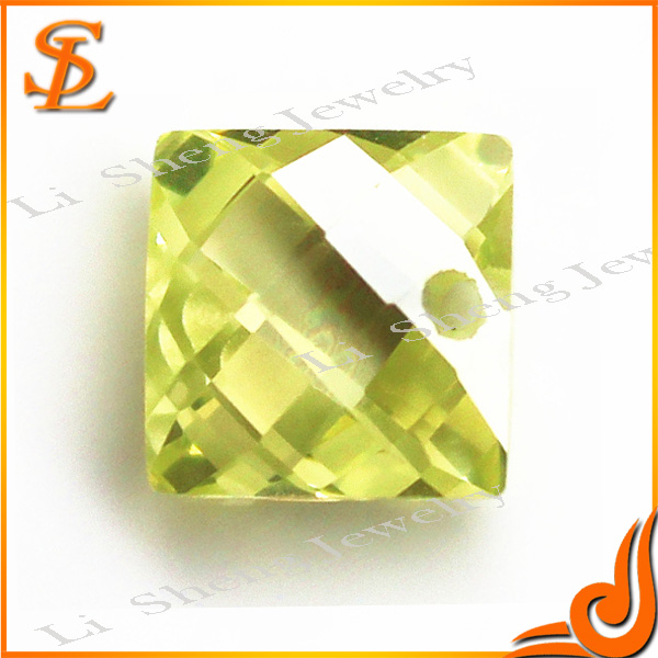 Hot sale good quality Square cubic zirconia stones beads