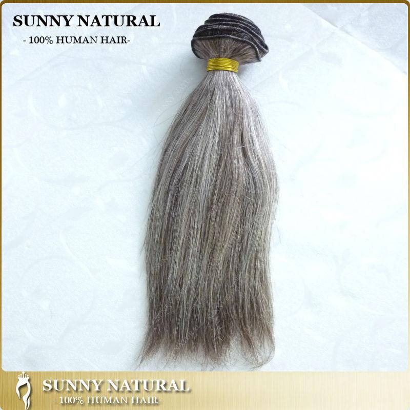 Alibaba Mix Greysilver Brazilian Remy Hair Extension Gray Hair