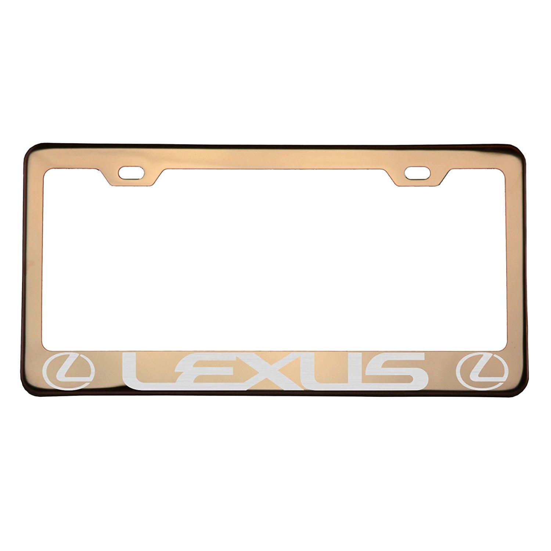 One Rose Gold Chrome Stainless Steel License Plate Frame Holder Front Or Rear Bracket Laser Engrave