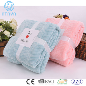 100% polyester comfortable brushed warm flannel fleece blanket