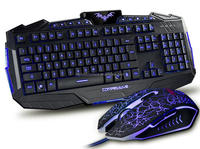 Factory directly sales Waterproof keyboard Backlight gaming keyboard with mouse
