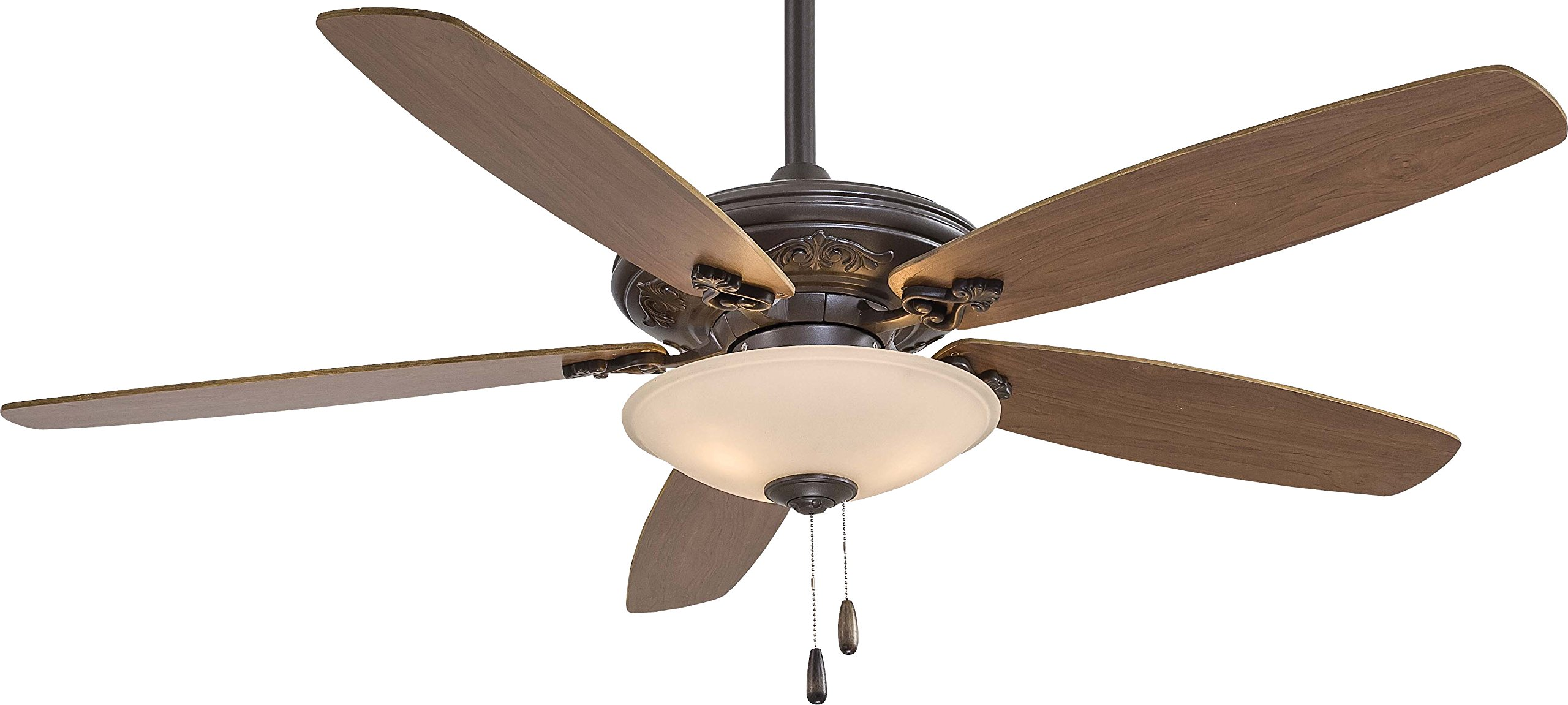 "Minka-Aire F622-ORB/TS, Traditional Mojo Oil-Rubbed Bronze 52"" Ceiling Fan with Light"