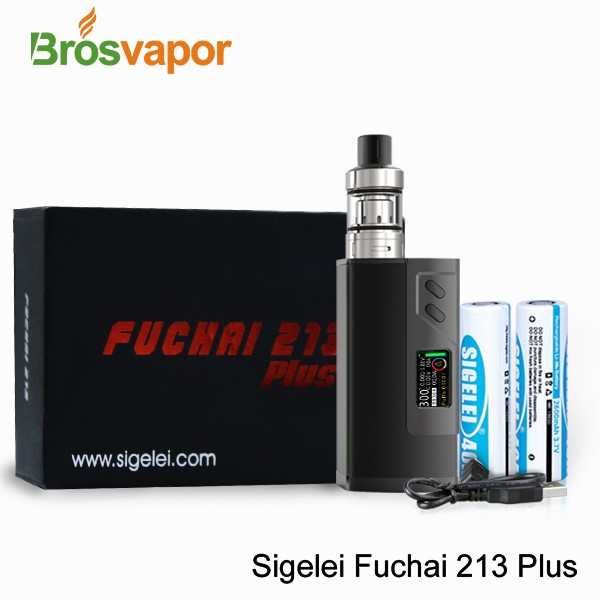 Sigelei Fuchai 213 Plus TC Box Mod 10~213W OLED Display Screen Sliding Battery Door Cover Overheating Prevention