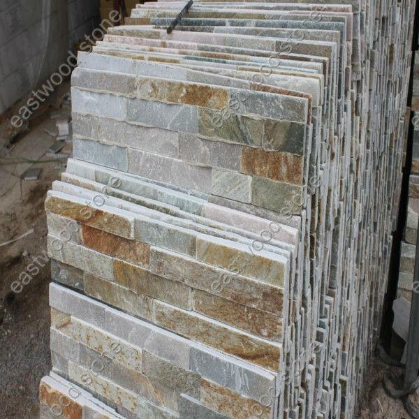 Panneaux muraux en pierre d corative pour chemin e ardoise - Mur interieur en pierre leroy merlin ...