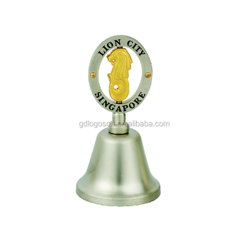 Wholesale Singapore Souvenirs Merlion Hanging Bell for Home Decoration Collectible Metal Bells