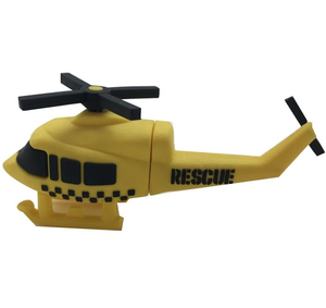Custom Shape 64Gb Cartoon Silica Gel Helicopter 8Gb 16Gb 32Gb Usb Stick Pendrive Soft Rubber Airplane 128Gb 1Gb Pen Flash Drive