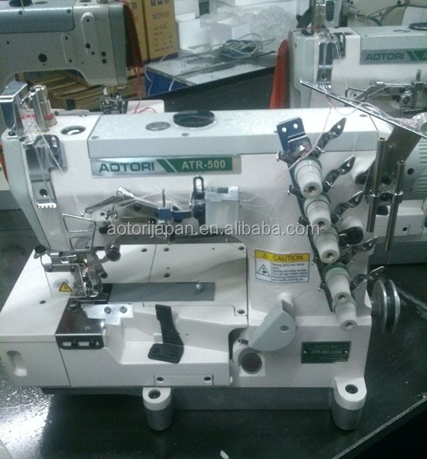Interlock Sewing Machine With Tape Binding for Rolled Edge W562