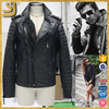 Fashion ladies gentleman motorbike genuine leather jacket for men women