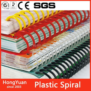 Loose Leaf Binding Supplies Plastic Spiral Coil For Binding