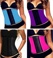 light purple waist trimmer corset sweat sport corset short pants women corset