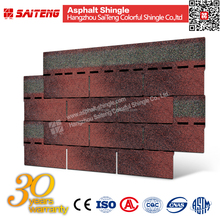 Asian Red Building Material 3 tab shingles for sale spanish roof tiles