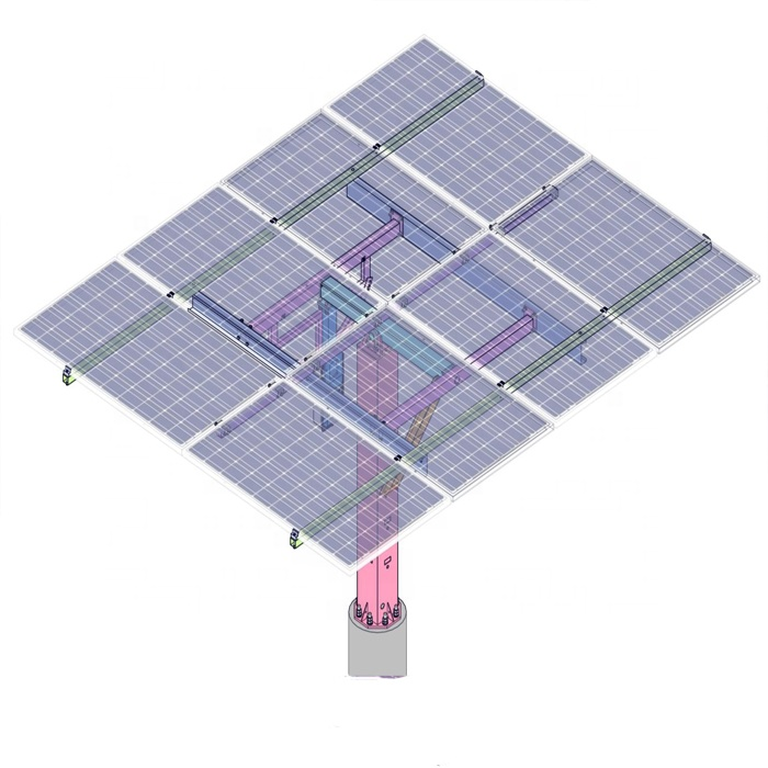 Semi-Automatic Dual axis Solar mounting structure for home