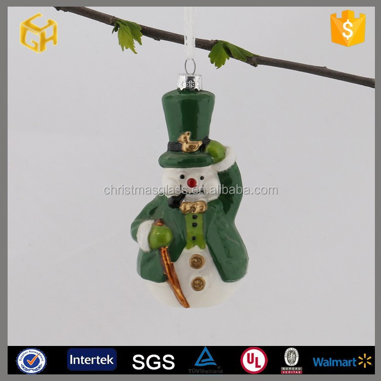 Hand blown lowes outdoor christmas snowman ,crystal snowman figurine