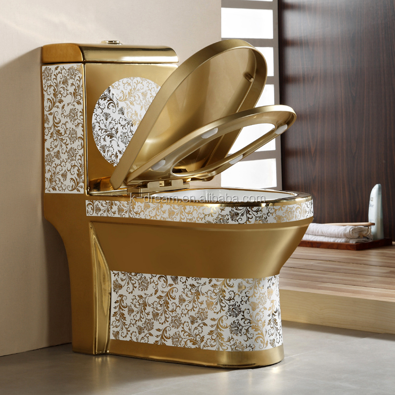 gold plated water closet colored toilet bowl kd 03gp buy colored toilet bowl colored toilets. Black Bedroom Furniture Sets. Home Design Ideas