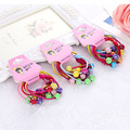 4pcs set 2016 New Style Kids Hairbands Plastic Ball Elastic