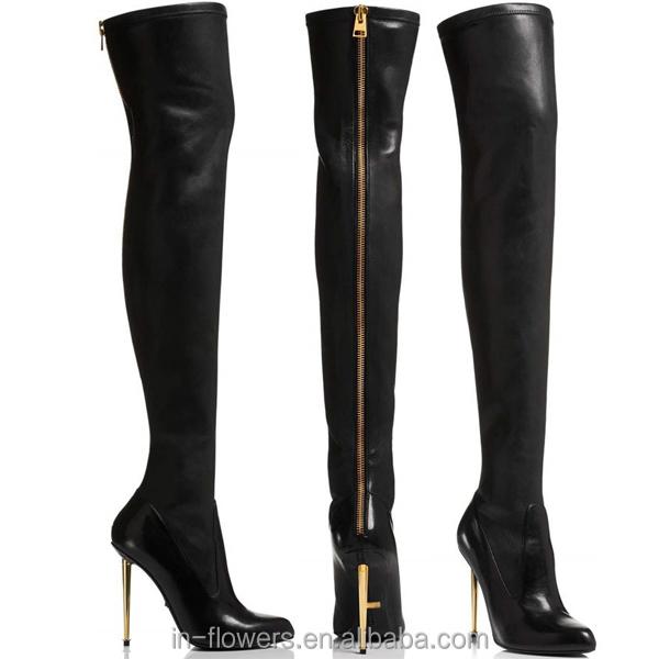 Thigh High Heel Gladiator Boots Genuine