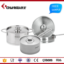 Cheap Christmas Hot Sale Home Garden Induction Cook Ware , Stainless Steel Kitchen Cookware Set Cookware