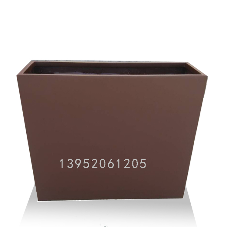 rectangular fiber outdoor garden artificial flower plant pot