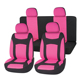 Pink Durable Full Set Women's Car Seat Cover